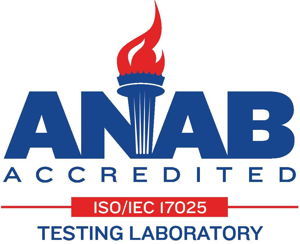 ANAB Accredited Testing Laboratory