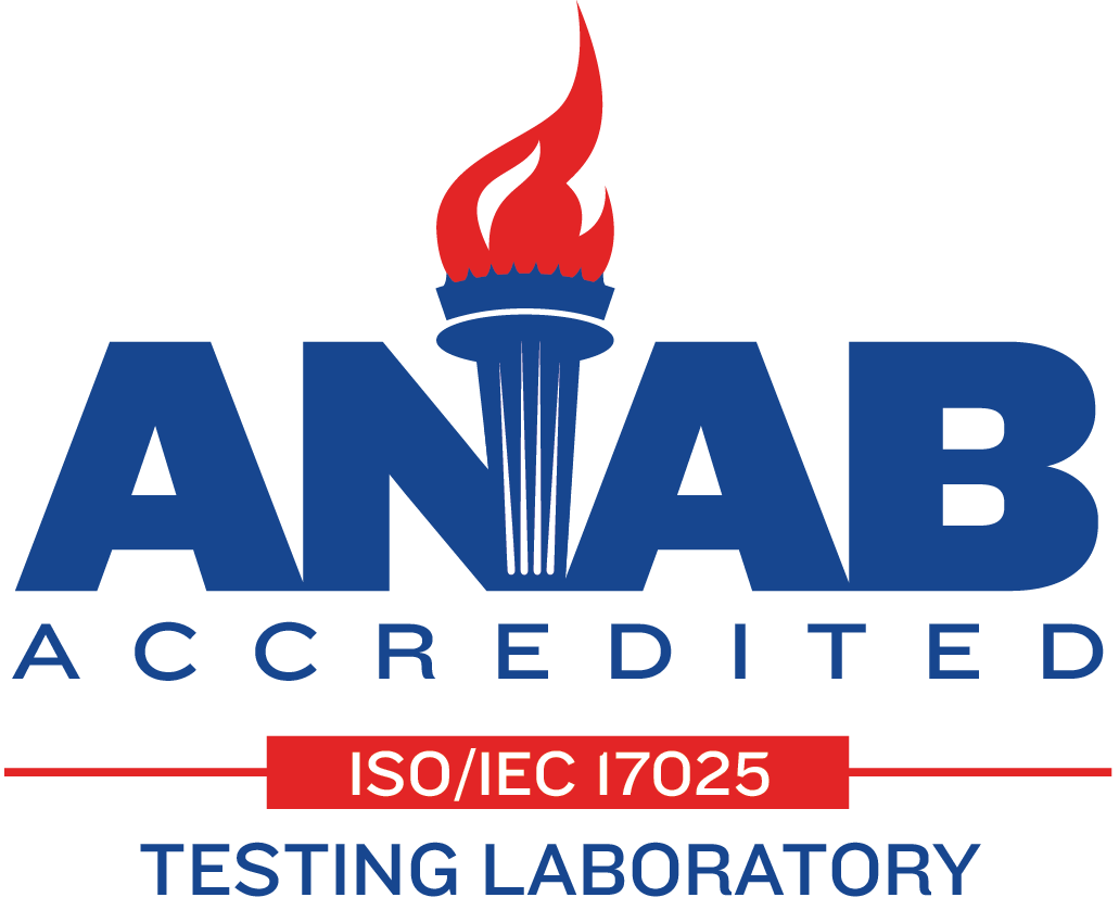 ANAB Accredited Testing Laboratory